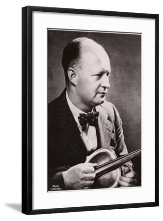 Portrait of Paul Hindemith--Framed Photographic Print