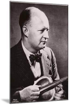 Portrait of Paul Hindemith--Mounted Photographic Print