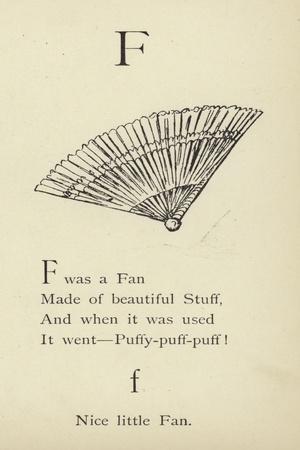 The Letter F-Edward Lear-Framed Giclee Print