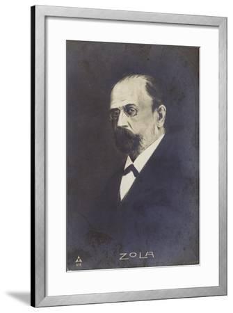 Emile Zola--Framed Giclee Print
