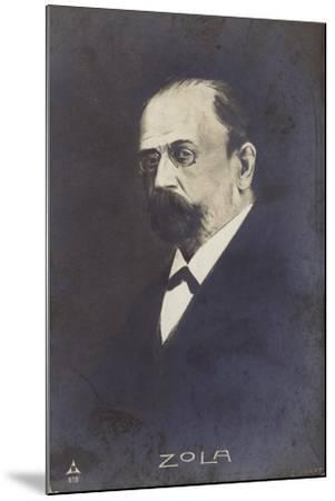 Emile Zola--Mounted Giclee Print