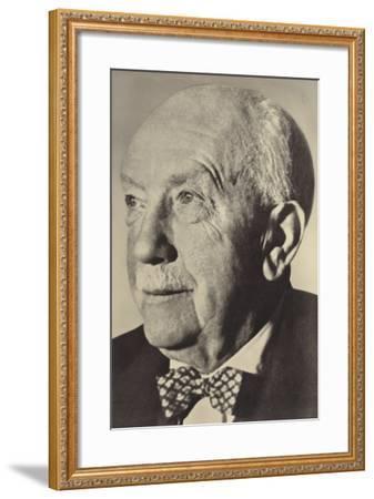 Portrait of Oscar Strauss--Framed Premium Photographic Print