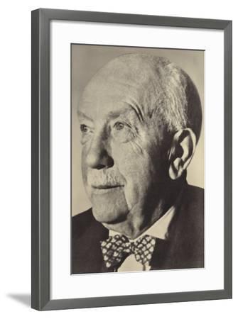 Portrait of Oscar Strauss--Framed Photographic Print