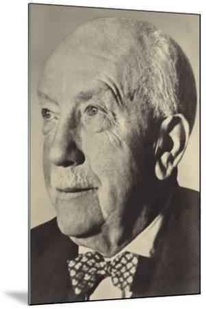 Portrait of Oscar Strauss--Mounted Photographic Print
