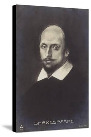 William Shakespeare--Stretched Canvas Print