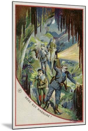 Bebe Is Reassured--Mounted Giclee Print