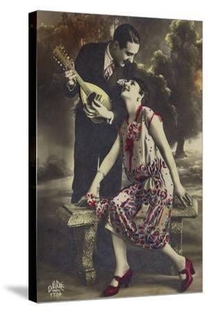 Happy Young Couple--Stretched Canvas Print
