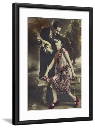 Happy Young Couple--Framed Photographic Print