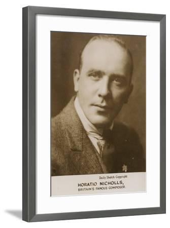 Portrait of Horatio Nicholls--Framed Photographic Print