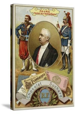 Felix Faure, President of France--Stretched Canvas Print