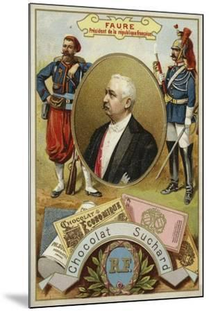 Felix Faure, President of France--Mounted Giclee Print