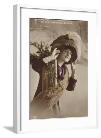 Christmas Card--Framed Photographic Print