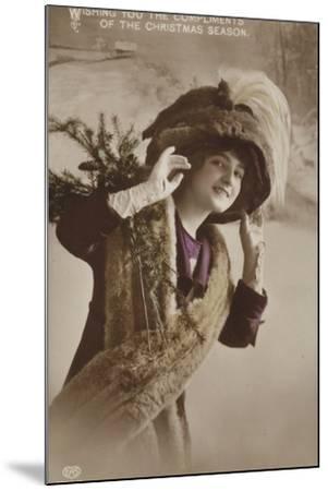 Christmas Card--Mounted Photographic Print