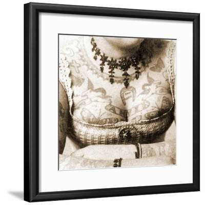 Close-Up of Annie Howard's Chest, C.1898-Charles Eisenmann-Framed Photographic Print