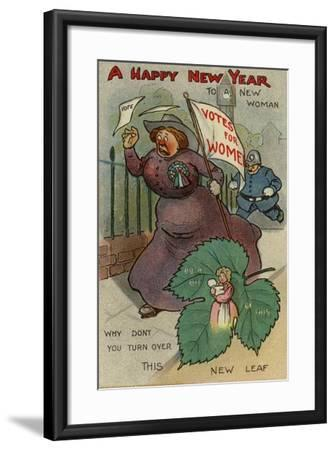 A Happy New Year to a New Woman--Framed Giclee Print