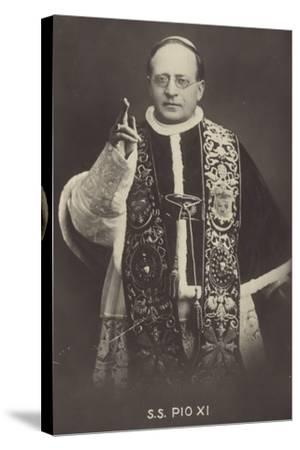 Pope Pius XI--Stretched Canvas Print