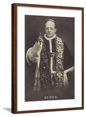 Pope Pius XI--Framed Photographic Print