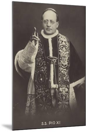 Pope Pius XI--Mounted Photographic Print