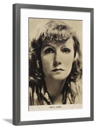 Greta Garbo, Swedish Actress and Film Star--Framed Photographic Print