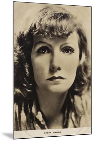 Greta Garbo, Swedish Actress and Film Star--Mounted Photographic Print
