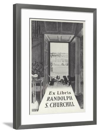 Ex Libris Randolph S Churchill--Framed Giclee Print