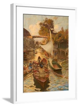 A Study of Boulter's Lock, Maidenhead, Berkshire-Edward John Gregory-Framed Giclee Print