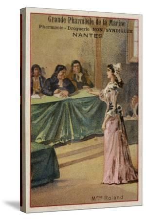 Madame Roland, French Revolutionary--Stretched Canvas Print