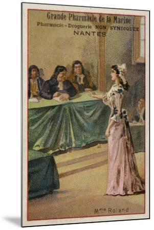 Madame Roland, French Revolutionary--Mounted Giclee Print