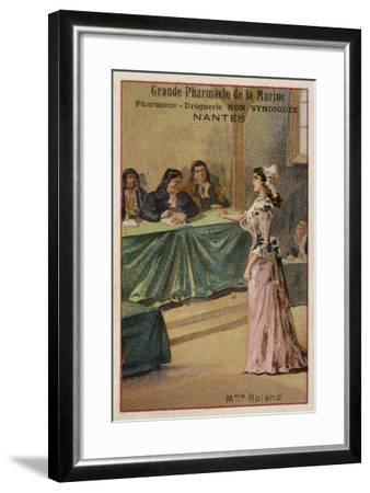 Madame Roland, French Revolutionary--Framed Giclee Print
