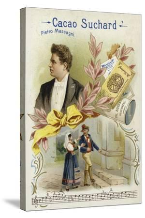 Pietro Mascagni, Italian Composer--Stretched Canvas Print