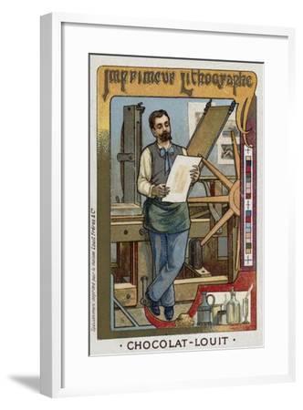 Lithograph Printer--Framed Giclee Print