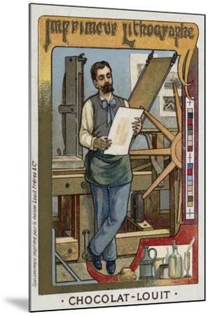 Lithograph Printer--Mounted Giclee Print