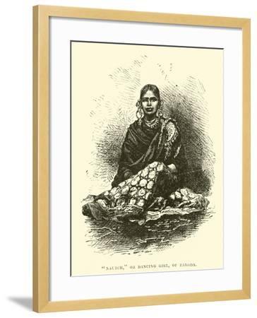 """Nautch"", or Dancing Girl, of Baroda--Framed Giclee Print"