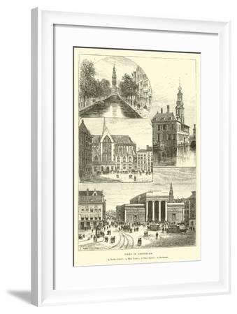 Views in Amsterdam--Framed Giclee Print