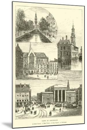 Views in Amsterdam--Mounted Giclee Print