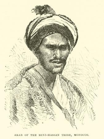 Arab of the Beni-Hassan Tribe, Morocco--Framed Giclee Print