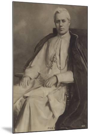 Pope Pius X--Mounted Photographic Print