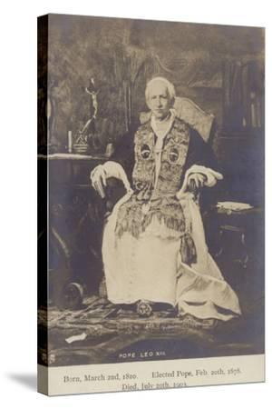 Pope Leo XIII--Stretched Canvas Print