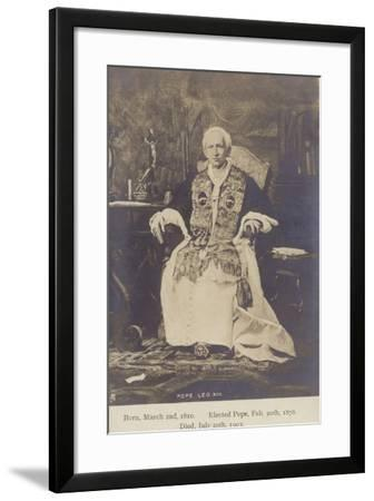 Pope Leo XIII--Framed Photographic Print