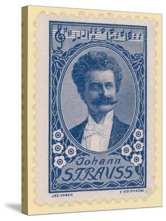 Johann Strauss II, Austrian Composer--Stretched Canvas Print