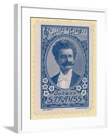 Johann Strauss II, Austrian Composer--Framed Giclee Print
