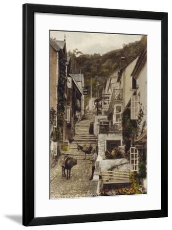 High Street, Clovelly, Devon--Framed Photographic Print