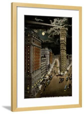 Times Square by Night, New York City, USA--Framed Photographic Print
