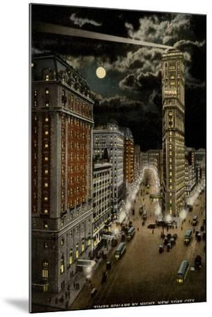 Times Square by Night, New York City, USA--Mounted Photographic Print