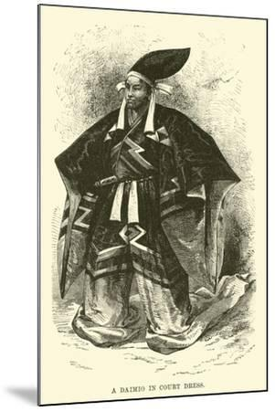 A Daimio in Court Dress--Mounted Giclee Print