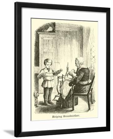 Helping Grandmother--Framed Giclee Print