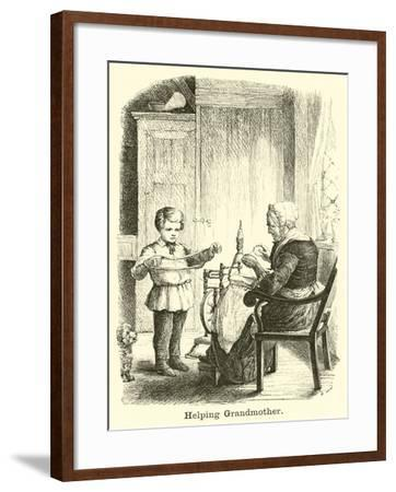 Helping Grandmother--Framed Giclee Print