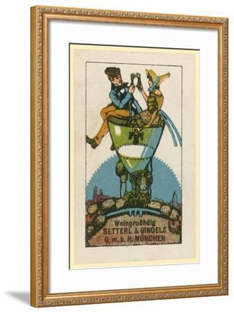 Setterl and Gindele Wine Wholesalers, Munich--Framed Giclee Print