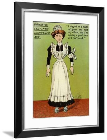 Postcard Opposing the National Insurance Act 1911--Framed Giclee Print