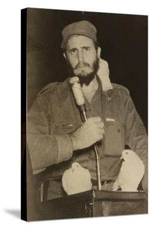 Fidel Castro--Stretched Canvas Print
